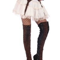 Steampunk Thigh High Boot Tops