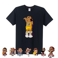 Man T Shirt Cartoon Tee Shirt KOBE PAUL James T Shirt WADE CURRY Harden T-shirt Men Clothing