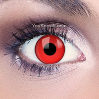 Blood Red Contact Lenses | Funky Eyes Red Contact Lenses