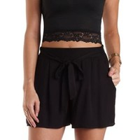 Sash-Belted High-Waisted Shorts by Charlotte Russe