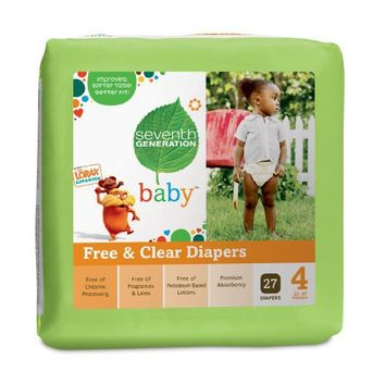 Seventh Generation Free and Clear Baby Diaper Value Pack, Stage 4, 135 Count | deviazon.com