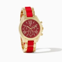 Romanesque Two-Tone Watch   Fashion Jewelry   charming charlie