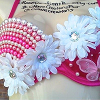 Pearl, Daisy, Butterfly Design Bra for any Event