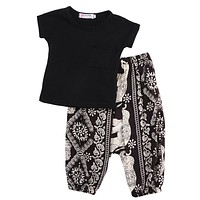Girl Clothes Shirts + Harem pants Girls Clothing Sets Baby Girl Clothes Kids Clothes Sets
