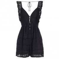 Porcelain Embroidery Playsuit - Jumpsuits & Playsuits - Clothing - Swim & Resort