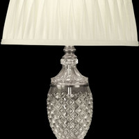 """0-027955>27""""h 1-Light 3-Way Glass Table Lamp Antique Pewter"""