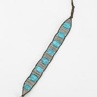Turquoise Cord Bracelet - Urban Outfitters