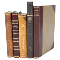 One Kings Lane - Deck the Halls - Decorative    Leather       Books, S/5