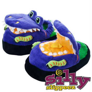 Silly Slippeez - Dizzy Dinosaur - Glow in the Dark - XS