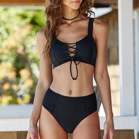 LA Hearts Solid High Waisted Bikini Bottom at PacSun.com