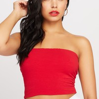 Sweetheart Ribbed Cropped Tube Top