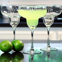 Cathy's Concepts Personalized Margarita Glasses (Set of 4)