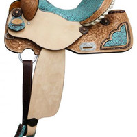 Saddles Tack Horse Supplies - ChickSaddlery.com Double T Barrel Saddle With Filigree Print Seat