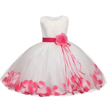 Flower Baby Girl Baptism Dress For Wedding Fancy Clothes born Baby 1 Year Birthday Dress For Girls Infant Clothing