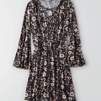 Don't Ask Why Bell Sleeve Dress , Black   American Eagle Outfitters