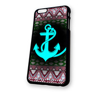 Aztec With Anchor Blue mean iPhone 6 case