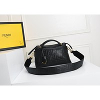 FENDI WOMEN'S LEATHER BY THE WAY HANDBAG INCLINED SHOULDER BAG