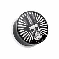 The Depper Skull Single Flared Ear Gauge Plug