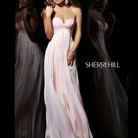 Strapless Ruched Bust line Formal Prom Dress Sherri Hill 21067