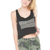 Brandy ♥ Melville |  Mirella Flag Embroidery Tank - Just In