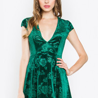Sugar Lips Ebony Velvet Dress