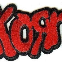 Korn Iron-On Patch Red Letters Logo