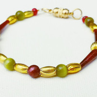 Christmas Bracelet - Holiday Bracelet - Christmas Jewelry - Stocking Stuffers for Her - Gifts for Wife - Gifts for Mom - Xmas Gifts