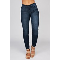 Dusk To Dawn Distressed Skinny Jeans (Dark Wash)
