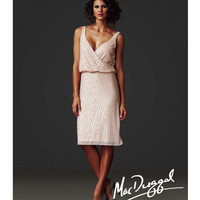 Mac Duggal 2014 Couture - Porcelain Sequin Gatsby Inspired Cocktail Dress