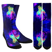 New Rave Lighting Crew Socks