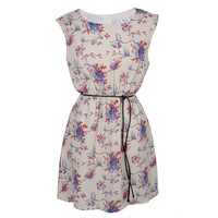 Owl On a Branch All-Over Women's Dress