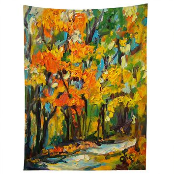 Ginette Fine Art Autumn Woods Tapestry
