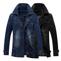 Trendy M-4XL men jackets and coats brand clothing denim bomber jackets Fashion mens cowboy Outerwear windbreaker autumn outwear AT_94_13