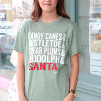 Christmas Description List Short Sleeve {L. Olive Heather}