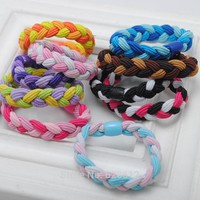 10 pcs /lot New Fashion Braided hair scrunchies Super Stretch Hair ties/ Elastic Hair Bands Women Hair Accessories