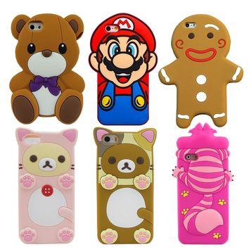 Super Mario party nes switch YRFF Fundas Mobile Phone case For iPhone 5 5S 6 6s plus Cute 3D Cartoon bear s Cheshire Cat Silicon Back Case Cover AT_80_8