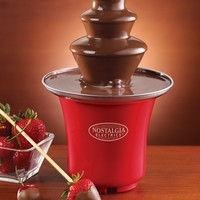 Nostalgia CFF300 3-Tier 0.5-Pound Capacity Chocolate Fondue Fountain