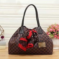 Louis Vuitton Women Fashion Leather Shoulder Bag Handbag Tote Satchel