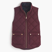 Excursion quilted vest in flannel : Women puffers & vests   J.Crew