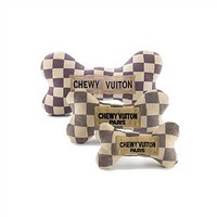 Chewy Vuiton Checker Bone
