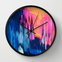 A magical place Wall Clock by Elisabeth Fredriksson