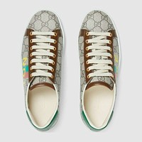 GUCCI  Women's 'Fake/Not' print Ace sneaker