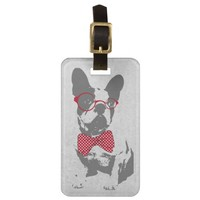 Cute funny trendy vintage animal French bulldog