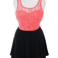 Plus Size For Love Floral Lace Coral Dress, Plus Size Clothing, Club Wear, Dresses, Tops, Sexy Trendy Plus Size Women Clothes