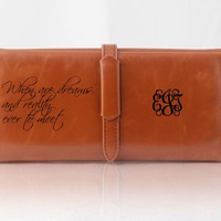 Womens Wallet, Personalized Wallet, Engraved Leather Wallet, Wallet, Purse, Monogram Clutch, Monogrammed Bag