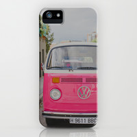 Hot Pink Lady iPhone & iPod Case by Hello Twiggs