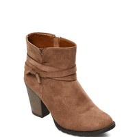 Wrapped Faux Suede Bootie