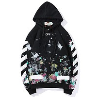 Boys & Men Off-White Top Sweater Pullover Hoodie