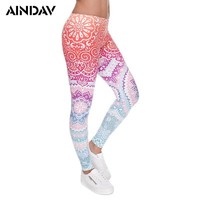AINDAV 3D Print Training Yoga Pants for Women Sports Leggings Tracksuits Gym Fitness Workout Running Tights Compression Trousers