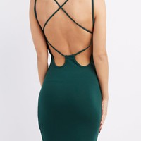 Strappy Open Back Bodycon Dress